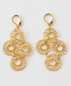 Blossomed Earrings - I love they spirit of these earrings, so joyful and pretty :) #noondaychristmas