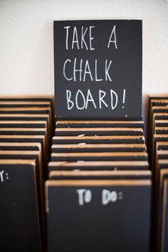 LOTS of great ideas for favors here! Who wouldn't love one of these cute and useful chalkboards?!