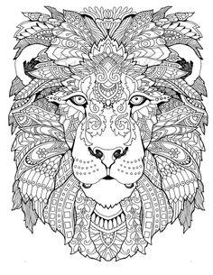 ausmalbilder-erwachsene-tiere-löwe-mandala-vorlage-ausdrucken   erwachsenen malbuch