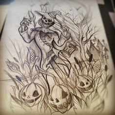 scarecrow and pumpkin tattoos - Google Search