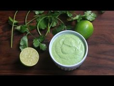 Easy recipe for homemade cilantro aioli or cilantro mayonnaise from scratch made with eggs, oil, cilantro, lime and garlic