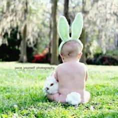 Easter pic--This would be so cute to do with Levi...If I could get him to sit still...lol