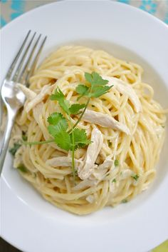 Tex-Mex Chicken White Cheddar Spaghetti    Yummy~~ ^ ^