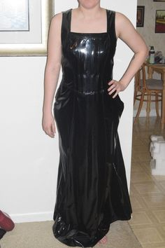 LIP SERVICE Patent Vinyl And Vegi Leather Classics (Hot Topic) long dress gown #38-177-HT