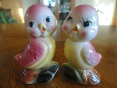 Vintage salt and pepper shakers.