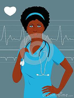 Doctor or nurse with a heart monitor