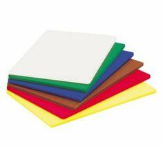 "Adcraft CCB-1824/BU Color Coded Cutting Board by Adcraft. $31.24. Color Coded Cutting Board 18"" x 24"" x 1/2"" polyethylene sanitary durable dishwasher safe blue NSF"