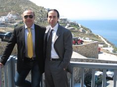 """Dr. Raffi Hovsepian with Greek Plastic Surgeon, Dr. Vasilios Kretsis. Both completed their presentation on """"Facial Rejuvenation"""" at the International Meeting on Aesthetic and Reconstructive Facial Surgery held in Mykonos, Greece! Topic was: """"The Changing Role in Face Lifting"""" www.rhmd.com #drraffihovsepian #drhovsepian #Greece #Athens #Mykonos #plasticsurgeon #aesthetics #beauty #cosmeticsurgery #facialplasticsurgeon #facelift #international #cosmeticsurgery #plasticsurgery"""