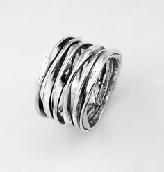 Sterling Silver Twist Bands Ring
