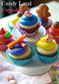 Candy Land Cupcakes by Lemons for Lulu plus 5 of This Year's BEST Rainbow Desserts!