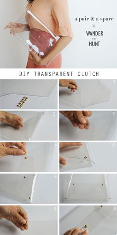 DIY Transparent Clutch | Wander & Hunt DIY Supplies