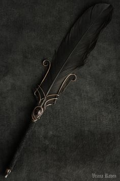 Demon by omegaptera on DeviantArt Quill And Ink, Fancy Pens, Weapon Concept Art, Fantasy Weapons, Wax Seals, Fountain Pen, Quilling, Hair Accessories, Magick