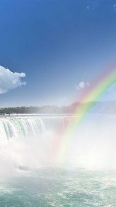 Niagara Falls Rainbow, Canada iPhone 5 wallpapers, backgrounds, 640 x 1136