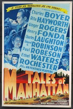 MovieArt Original Film Posters - TALES OF MANHATTAN (1942) 11176, $1,750.00 (http://www.movieart.com/tales-of-manhattan-1942-11176/)