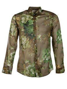 GUCCI Gucci Blooms Print Cotton Duke Shirt. #gucci #cloth #shirts