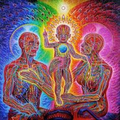 "cosmic-rebirth: ""Holy Family,"" by Alex Grey"
