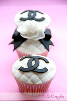 Coco Channel wedding cupcakes reminds me of Abby @Abby Davidson