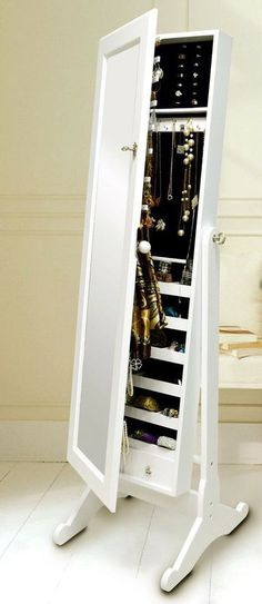 Jewelry Cabinet With Mirror | this cabinet is a statement on its own