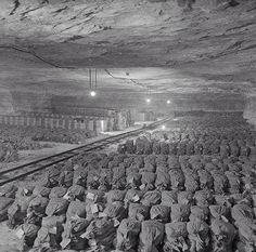 General Patton's Third Army discovered 100 tons of looted Nazi gold (7,000 bags) hidden in a salt mine in southwestern Gotha. In addition to gold, hundreds of stolen works of art were found.   1945, Gotha, Germany World War Two