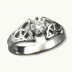 14kt White Gold Marishelle Engagement Ring set with a .50ct round diamond.