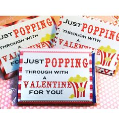Valentine Microwave Popcorn Wrap - Cover - Assorted Patterns - Class work Gift - Party Favor by MyCutieBows on Etsy Kinder Valentines, Valentine Gifts For Kids, Valentines Day Treats, My Funny Valentine, Valentine Day Crafts, Valentines Day For Coworkers, Valentine Ideas, Valentinstag Party, Work Gifts