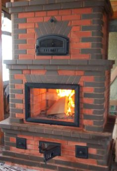 Stove Fireplace, Fireplace Design, Outdoor Stove, Building Stone, Stove Oven, Brickwork, Rustic Wood, Hearth, Beautiful Homes