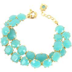 Les Nereides La Diamantine Turquoise Double Bracelet (1.145 BRL) ❤ liked on Polyvore featuring jewelry, bracelets, necklaces, accessories, pulseras, blue turquoise jewelry, turquoise bangle, gold tone jewelry, green turquoise jewelry and turquoise jewellery