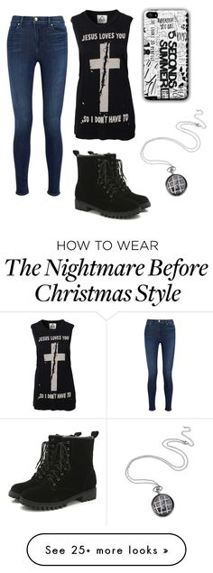 """Untitled #352"" by elizabethduff on Polyvore featuring UNIF and J Brand"