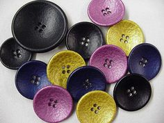 Coat Button - large black