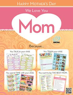 Tons of free  Printables for Mom! Happy Mother's Day!