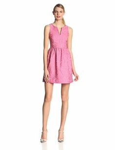 4.collective Women's Floral-Jacquard Sleeveless Flirty Dress