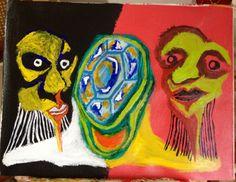 'La Sortija' by Rony. Acrílico y Óleo sobre lienzo. 29 x 35 cms.