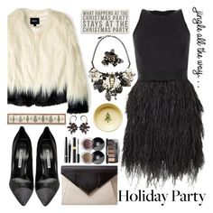 """""""Style Your Holiday Party Dress"""" by katjuncica ❤ liked on Polyvore featuring Milly, Unreal Fur, Manolo Blahnik, Roberto Cavalli, Chanel, Primitives By Kathy, Fiesta and HolidayParty"""