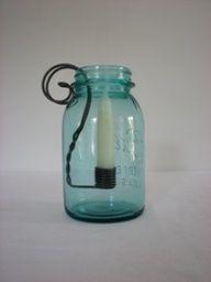 primit diy, canning jars, primitive crafts, mason jar candles, old jars
