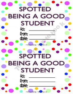 Polka Dot classroom theme , Spotted being a good student. LOVE!