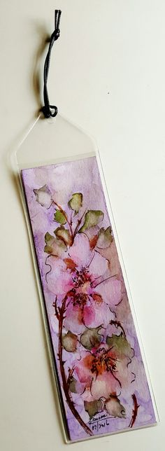 Original Watercolor Bookmark - Watery Wild Roses by RaissasArtmarket on Etsy