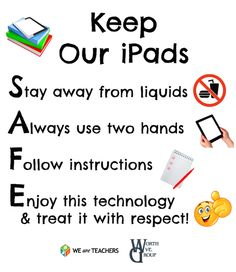 Great classroom poster to keep your devices safe :)