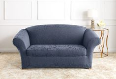 Sure Fit Slipcovers Stretch Jacquard Damask Separate Seat - Loveseat