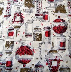Candy shop vintage fabric