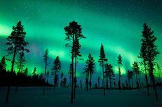 northern lights, sweden