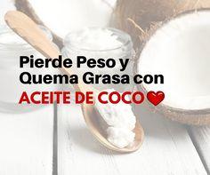 Bajar de peso usando aceite de coco