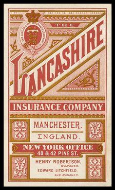 Lancashire Insurance Company | Sheaff : ephemera