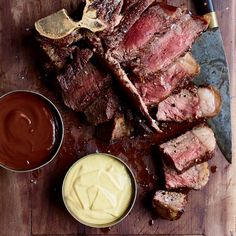 House Steak Sauce | Recipes for condiments, sauces, and dips, including chopped-olive aioli and tomato-ginger compote.