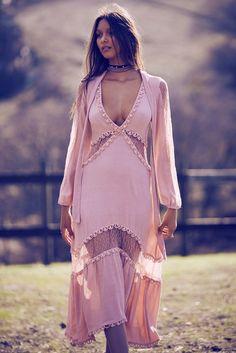 FOR LOVE & LEMONS - Pre Order For Love & Lemons Lilou Midi Dress - Dusty Pink