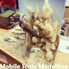 Wow!!! Fantastic diorama from Mobile Scale Modelling #scalemodel #plastimodelismo #plasticmodel #fighter #bomb #plastickits #usinadoskits #udk #miniatura #miniatur #hobby #diorama