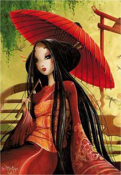 Puzzle chica oriental Misstigri ( Ref:  0000116295 )