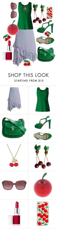"""""""Sour Cherry"""" by m-aviles-ma ❤ liked on Polyvore featuring Altuzarra, Lands' End, Marni, The Seller, Kenneth Jay Lane, Chanel, Coach, Tony Moly, Clinique and Skinnydip"""