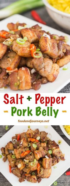 Thirty minutes Thats all the the time it takes to prepare Salt and Pepper Pork Belly A delicious and satisfying dish and NOFUSS seasoning too Pork Recipe Asian Wok Sliced Pork Belly Recipe, Pork Belly Slices, Fried Pork Belly, Wok, Salt Pork, Pork Bacon, Pork Meat, My Burger, Le Diner