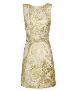 Rochas metallic brocade dress