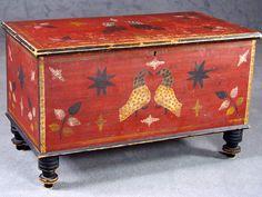 Valley of Virginia Folk Art chest, Stirewalt School, mid 19th. Sold for $143,000.